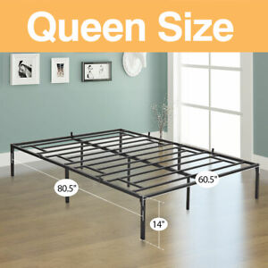 "14 "" Queen/ Full/ Twin Multi Size Iron Bed Frame Platform Mattress Foundation"