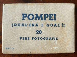 Vintage Souvenir 20 Photocards - Pompeii - Real Photos - Italian - Circa 1942