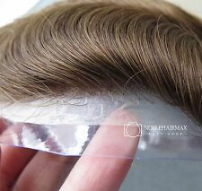 Hair Replacement System All Thin Skin Base Toupee Men's Hair Piece #6RD On Sale