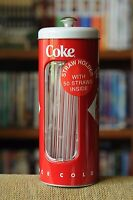 "NEW Coca-Cola ""Straw Holder ""with 50 Straws inside! Sweet!"