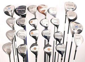 Lot of 24 Various Golf Club Woods Jones Titleist Callaway Ping Adams Cobra RH/LH