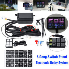 6 Gang LED Switch Panel Electronic Relay Circuit Control System Marine Car Boat