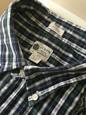 J.CREW Men's Casual Tailored Shirt SLIM FIT Blue Checks Button down SZ Large