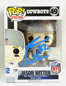 Jason Witten Autographed Dallas Cowboys Funko Pop Figurine - Beckett W *Blue