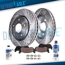 Front Drilled Brake Rotors + Ceramic Brake Pads for Toyota Camry Brakes Drilled
