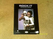 Herbie Hancock sheet music Rock It 1983 4 pages (VG+ shape)