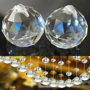 10PCS Chandelier Crystal Ball Lamp Pendant Hanging Drop Home Wedding Decor UK