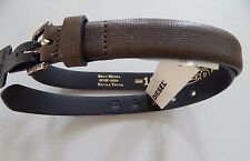 NWT Diesel Men's Leather Belt Brown BICUBE 00S9260 Extra Tough Size 32 / 80 cm