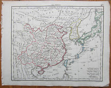 HERISSON: Map of China and Corea - 1800