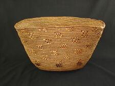 A large Salish basket, American Indian basket, circa: 1890's