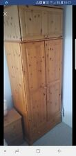 Pine wardrobe with drawers used