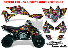 Amr racing décor Graphic Kit ATV suzuki ltr 450 Lt-r Ed-Hardy lovekills B