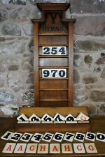 Antique hymn board, known provenance, Gothic style, Victorian, large proportions