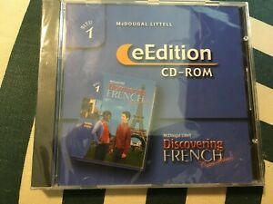 Mcdougal Littell edition cd-rom  Discovering French Unopened. Windows/Macintosh
