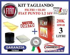 KIT TAGLIANDO FILTRI + OLIO SELENIA 10W40 FIAT PUNTO 1.2 16V 59 kw
