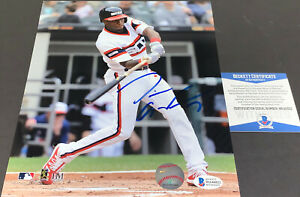Tim Anderson White Sox Autographed Signed 8x10 Beckett Witness COA Imperfect __