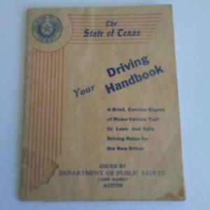 Texas Camp Mabry 1940's Driving Handbook Depart of Public Safety DMV Vintage