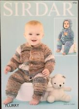 Sirdar Flurry knitting pattern 4766 - All in Ones - 16-20 ins