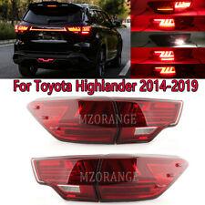 1 set LED Tail Light Red Rear Lamps For Toyota Highlander 2014 15 16 17 18 2019