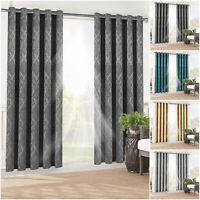 Thermal Blackout Outdoor Patio Curtains For Bedroom Eyelet Curtain with Tiebacks