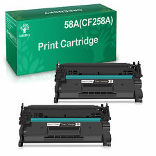 2 Pack Toner (No Chip) for HP CF258A 58A LaserJet Pro M404dn M428fdn M428fdw MFP