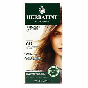 Herbatint Permanent Hair Color Gel, 6D , Clearance for Dented Box