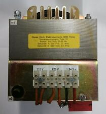 Gunter Kirch,Electromechanic#(6695)Transformer Primary-(110V) Sec-(220) & (24V)