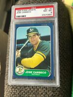 1986 Fleer Update Rookie #U20 Jose Canseco RC PSA 8 NM-MT