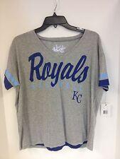 Kansas City Royals WOMENS Tshirt Grey Touch by Alyssa Milano Sample M NWD