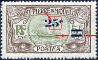 """COLONIES SAINT-PIERRE-et-MIQUELON N° 120 NEUF* Variété """"VOIR DESCRIPTIF"""""""