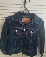 Girls Levis Classic Denim Jean Trucker Jacket Sz M