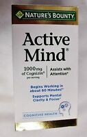 Nature's Bounty Active Mind Cognitive Health 1000mg 60 Caplets No Box Exp 02/19^