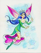 """Snowflake Fairy"" Original Watercolor by Anna-Maria Cool"
