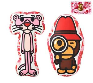*A BATHING APE Goods BAPE x PINK PANTHER BABY MILO FLUFFY BEADS CUSHION SET New