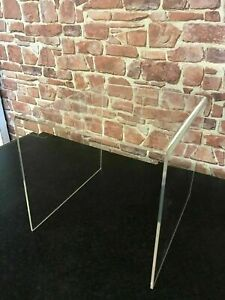 Clear Acrylic/ Perspex Table, Bedside Table, Coffee Table, End Table, Side Table