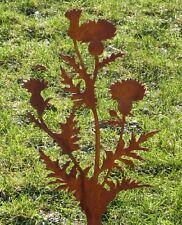 filigrane Distel Gartenstab Stele Stecker Metall rostig Gartendeko Mariendistel