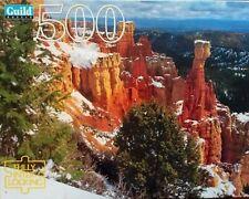 Guild Puzzle 500 Pieces Agua Canyon Utah  Red Rocks 15.5 x 18 vintage landscape