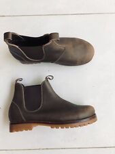 Men's Handmade Boots US Size 10 (AU 9) Brown Leather Safety Work Boots