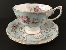 Vintage Royal Albert Claudette Rose Du Barry cup and saucer, beautiful