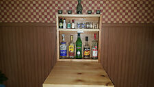 Rustic Murphy Bar Man Cave Liquor Cabinet Game Room  Fold Up Bar Wallmount