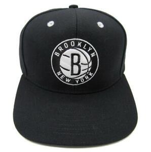 New Brooklyn Nets Mens Size OSFA Adidas Snapback Flatbrim Hat $26