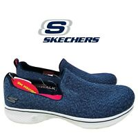 SKECHERS Women's Go Walk 4 Slip On Walking Shoes Black / Navy