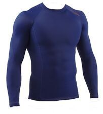BNWT MENS YOUTH RX SUB SPORT LONG SLEEVE COMPRESSION BASELAYER TOP SHIRT XS NAVY