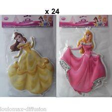 Lote revendedor 24 decoración mural Princesa 3D Disney, stikers cuadro pulgas