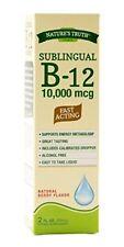 Nature's Truth Sublingual Vitamin B-12 10,000 Mcg, Fast Acting Liquid,...