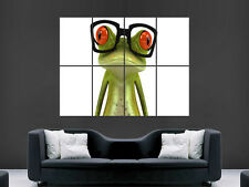 """FUNNY FROG 3D GLASSES ART WALL LARGE IMAGE GIANT POSTER """""""