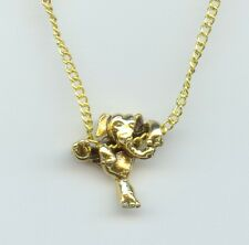 Elephant Necklace 3D Climbing Gold Plated lucky