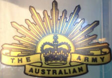 Australia Rising Sun (chrome) Vinyl Decal 90mm by 64 Mm Apr.