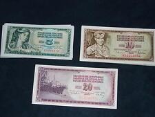 - Banconote - LOTTO YUGOSLAVIA - 3 BANCONOTE DIVERSE