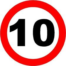 10 MPH SPEED RESTRICTION PLASTIC SIGN/NOTICE